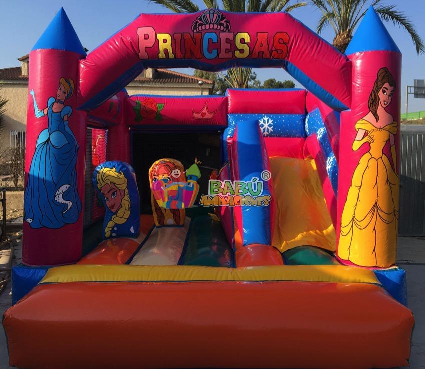 castillo hinchable para alquilar de princesas