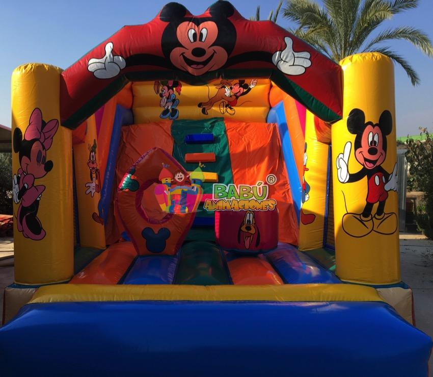 Tobogán Disney en Babu Animaciones.Castillo Hinchable Disney para Fiestas