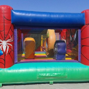 Detalle hinchable spiderman