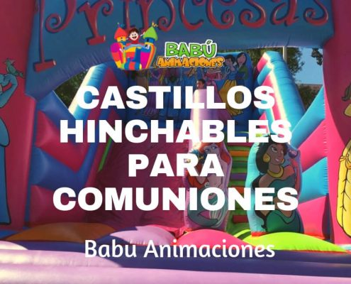 Castillo hinchable de Princesas para comuniones.