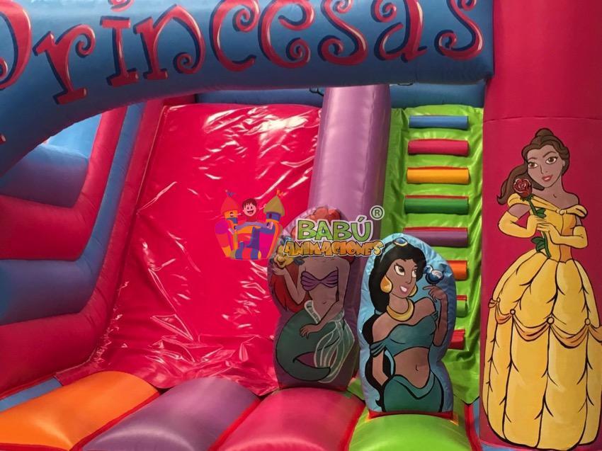 Detalle hinchable de princesas