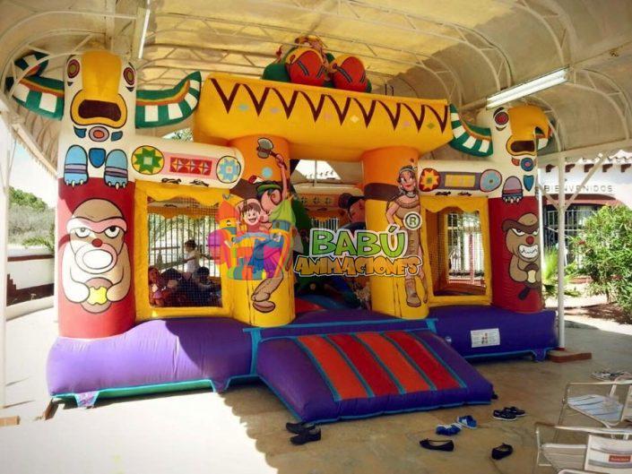Castillo hinchable indios. Hinchables para fiestas en interior