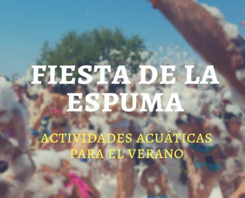 Fiesta de la espuma en Alicante.