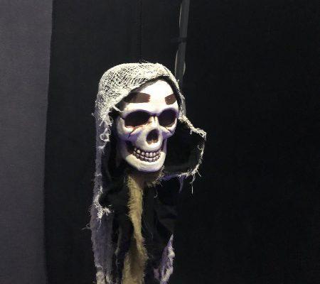 Decoración de calavera en Halloween