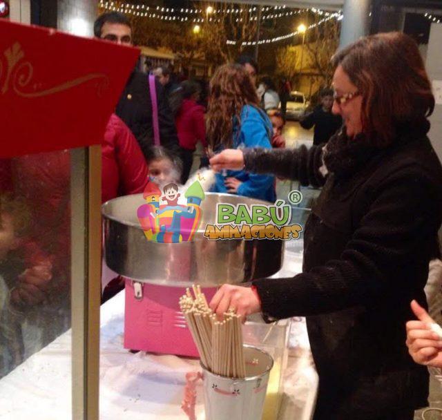 Algodón de azúcar, el servicio más dulce estas fiestas.