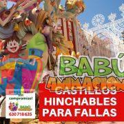 Castillos hinchables para Fallas. Hinchables en Fallas de Valencia