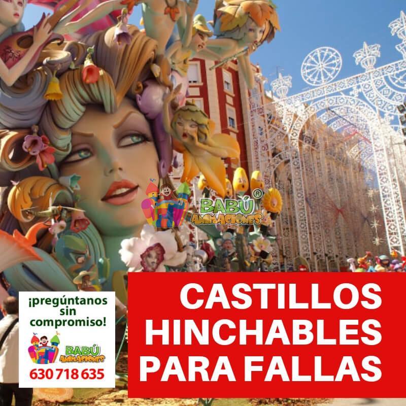 Castillos hinchables para Fallas.