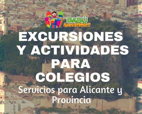 Organización de excursiones en Alicante. Excursiones para colegios en Alicante.