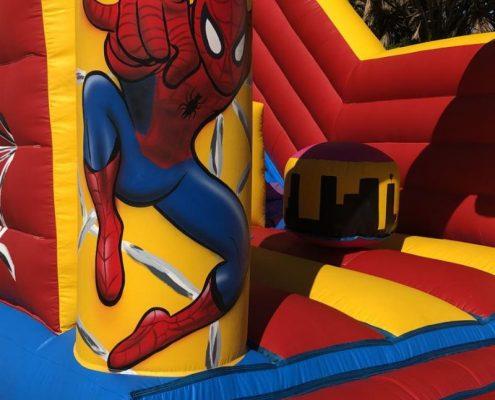 Spiderman, detalle de este hinchable
