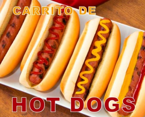 Alquiler de carrito de Hot Dogs y Mini Hamburguesas