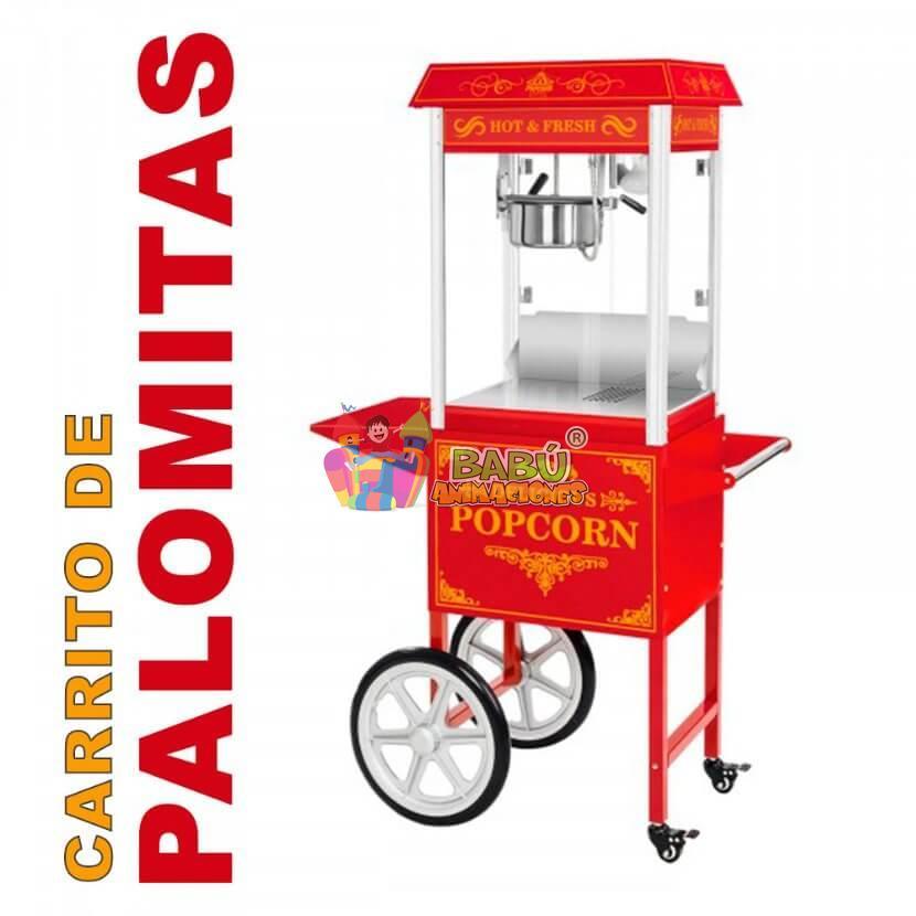 Alquiler de carrito de palomitas en Alicante.