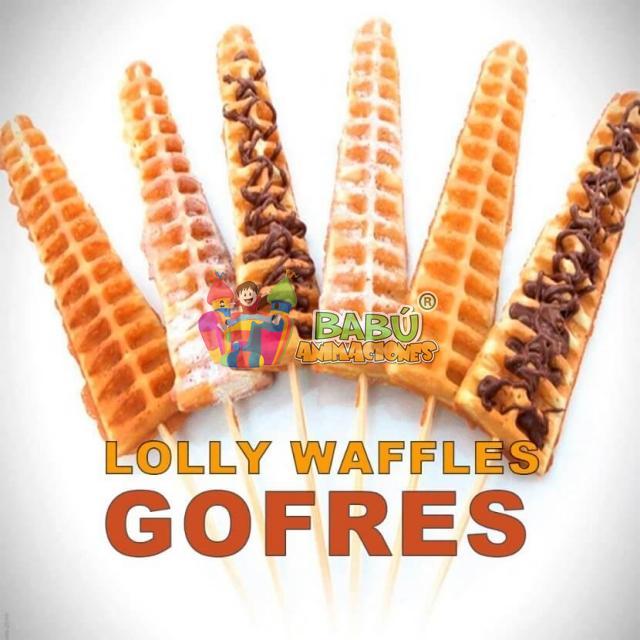 Lolly Waffles para fiestas