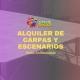 Alquiler de carpas y escenarios en Alicante